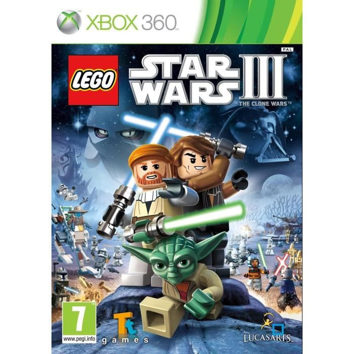 lego star wars 3 jeu xbox 360 achat vente jeux xbox 360 lego star wars 3 jeu x360 cdiscount. Black Bedroom Furniture Sets. Home Design Ideas