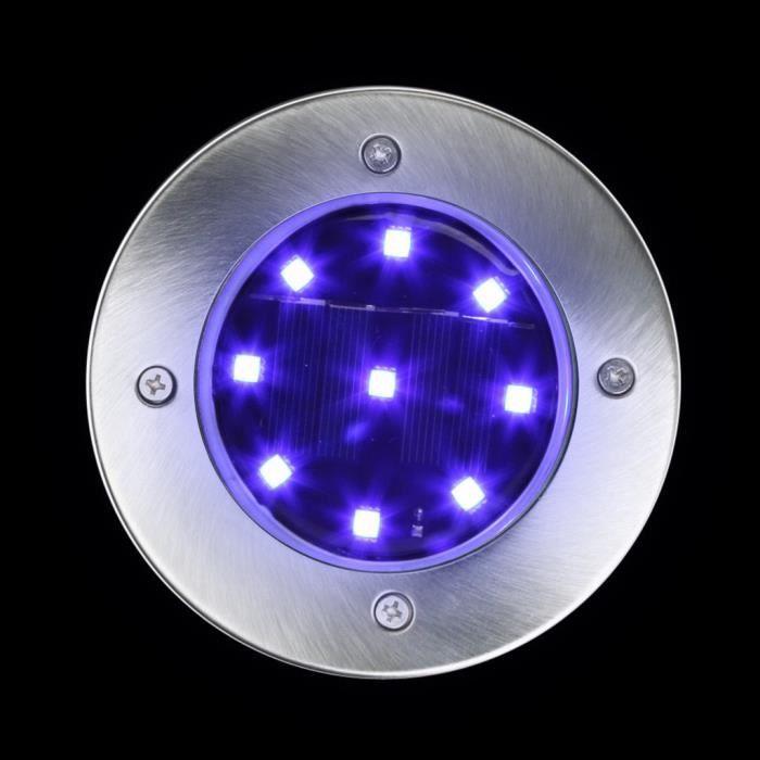 Spots Encastrables LED Solaire étanche IP65 Extérieur Jardin @duo601