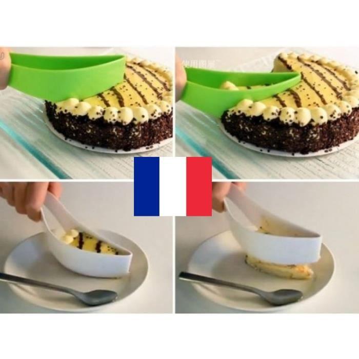 Couteau Spatule Découpe Part Diviseur Découper Servir les Gâteaux Pâtisserie Vert