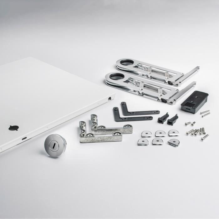 Kit complet porte abattante pour USM Haller 705x350 Blanc pur