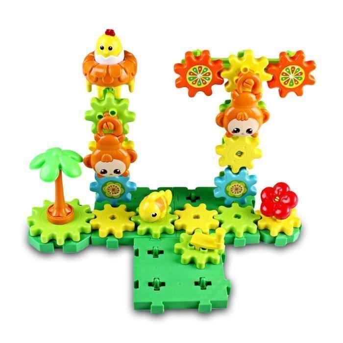 3D Jeu de Construction Forêt Animaux Assemblage Blocs Plastique Bricolage Jouet éducatif créatif Enfant Cadeaux d'anniversaire