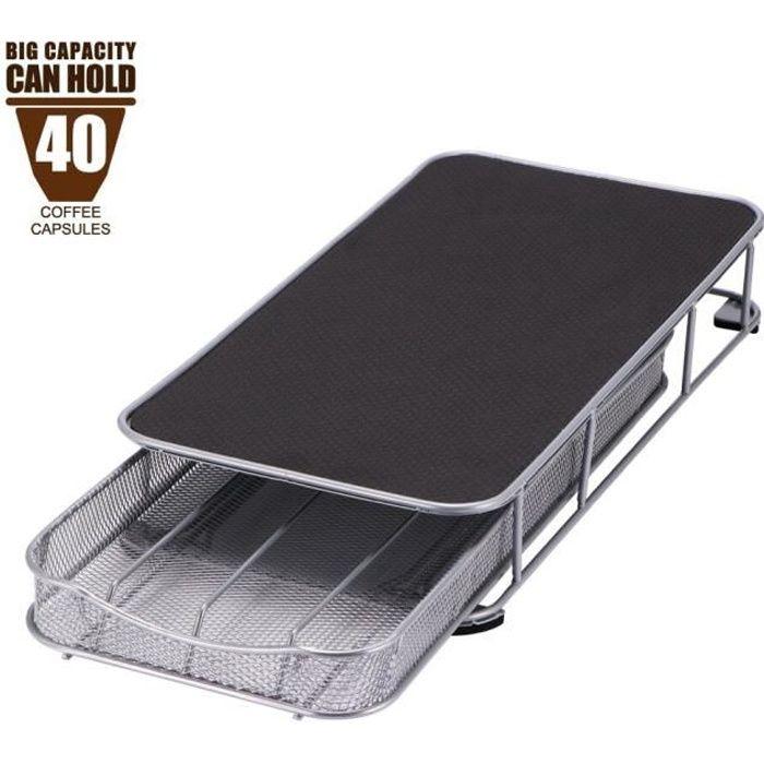24-40 tasses métal noir café Capsule support de rangement café dosettes support fer chromé support pour Dolce Gusto Caps*DI2166