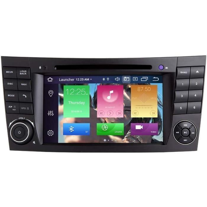 AUTORADIO pour Mercedes Benz Classe E W211 W219 CLS Android 100 Octa Core 4 Go de RAM 64 Go de ROM 7 Autoradio Systegraveme GPS 426