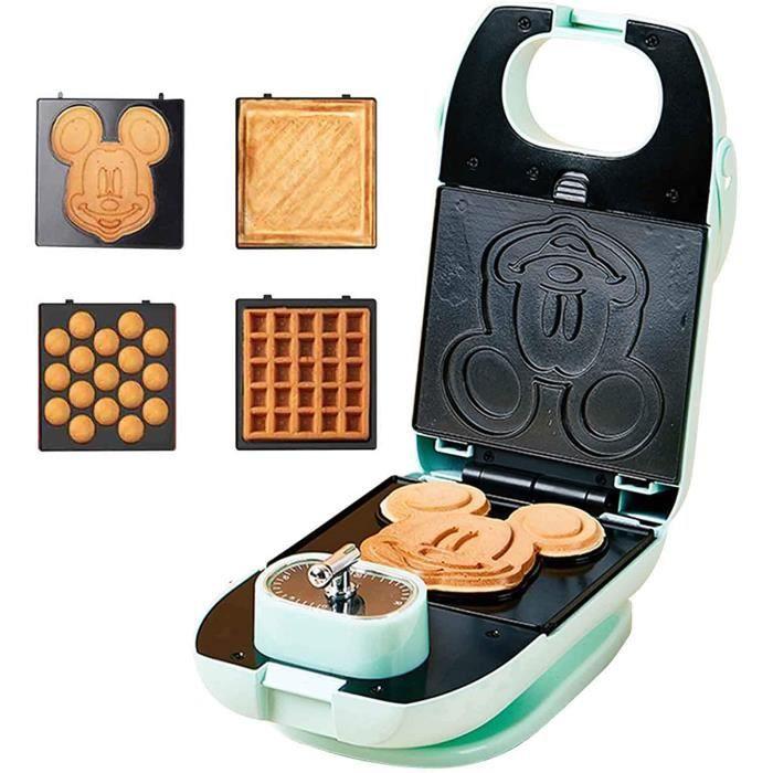 Gaufrier croque monsieur électrique Multifonction Souris Appareil à gaufres appareil à croque appareil a gauffres grill 650W pour Dé
