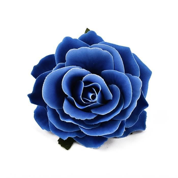 Décoration florale,Roses blanches artificielles en soie,9cm,30 pièces,fausses têtes de fleurs,pour décoration de - Type blue