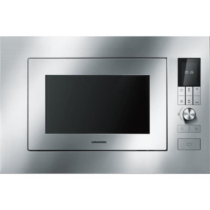 Grundig GMI 2141 X, Intégré, Micro-ondes grill, 23 L, 900 W, Rotatif, Toucher, Acier inoxydable