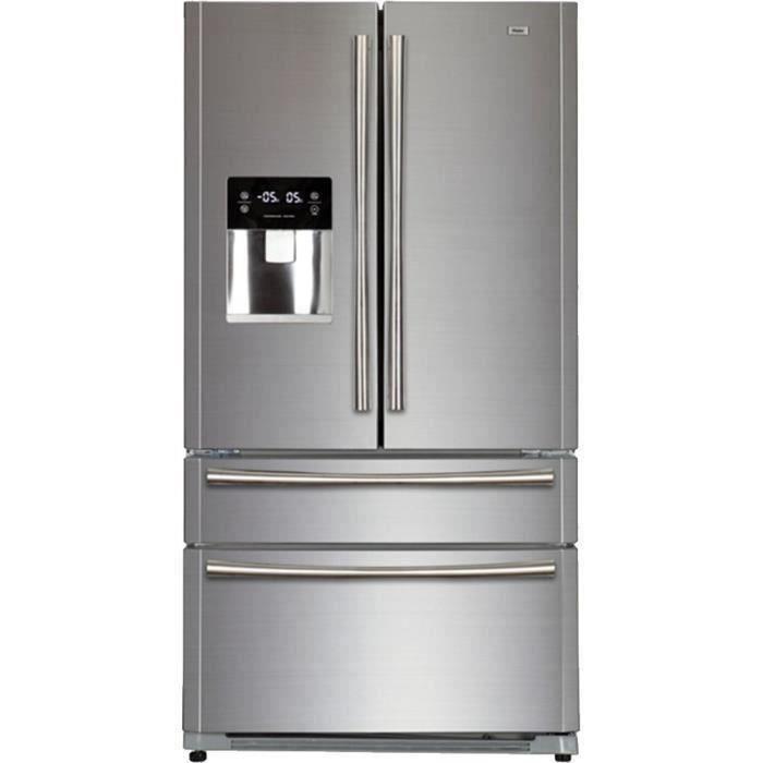 HAIER B22FSAA - Réfrigérateur multi-portes - 522L (387+135) - Froid ventilé - A+ - L91 x H178 cm - Silver