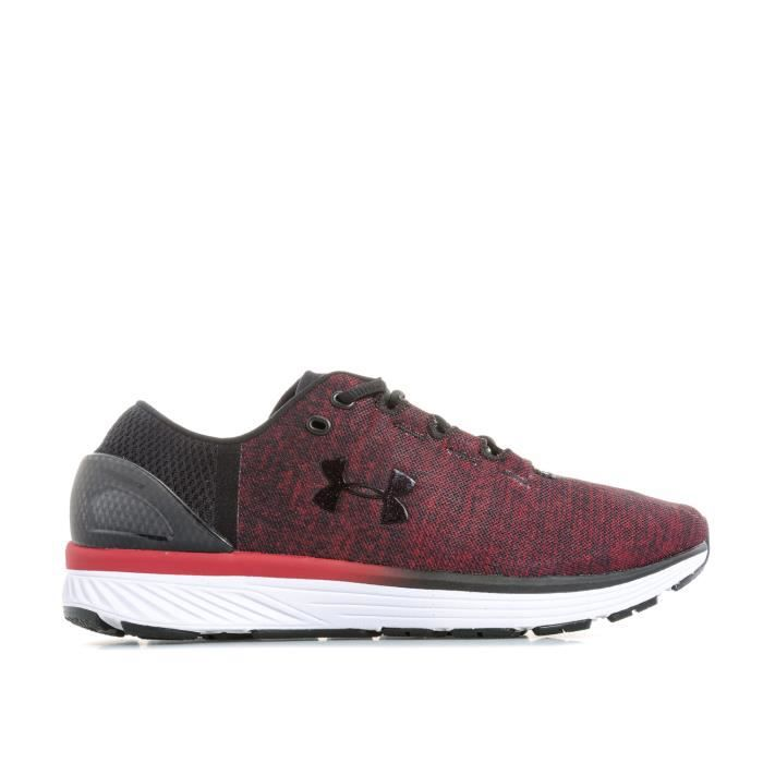 Chaussures de course Under Armour Charged Bandit 3 pour homme en rouge.