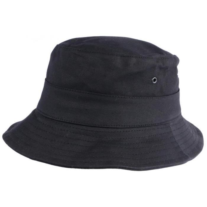 Chapeau Bob Huile Noir Wax Impermeable Finistère Outdoor - 57 - Noir