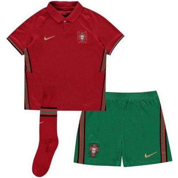 Ensemble Complet Mini-Kit Officiel Enfant Nike Equipe du Portugal de Football Domicile Euro 2020