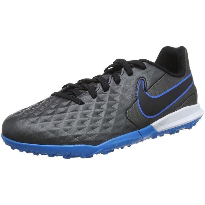 Nike Legend 8 Academy Tf , Football Chaussure, Noir/Noir-Bleu Hero, 36 Eu