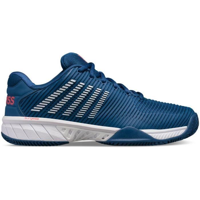 Chaussure de Tennis Dunlop hypercourt express 2 - bleu foncé/blanc/rouge - 45