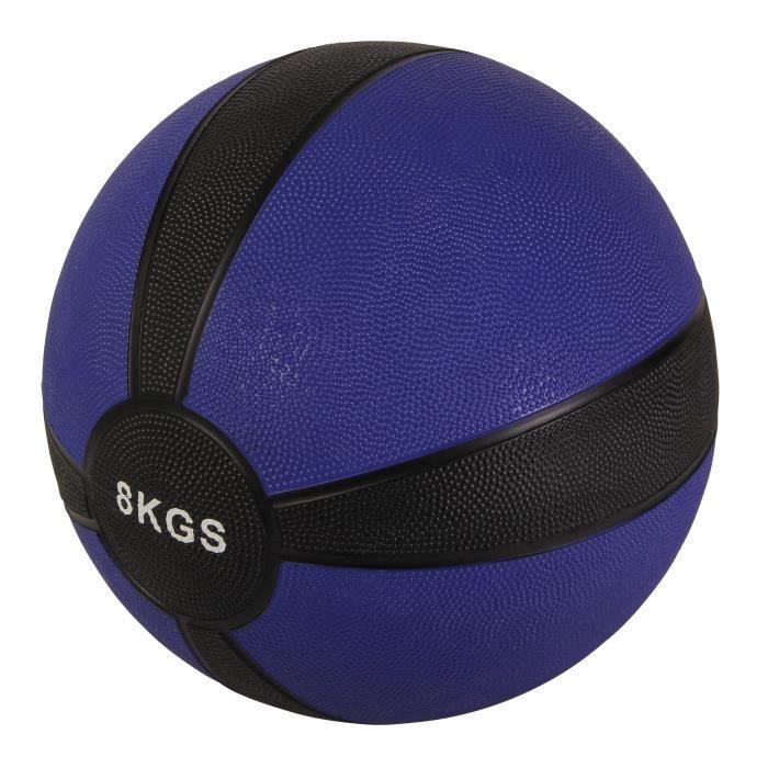 Medicine Ball 1-10 kg différents poids + couleurs Poids: 8 kg (bleu foncé)
