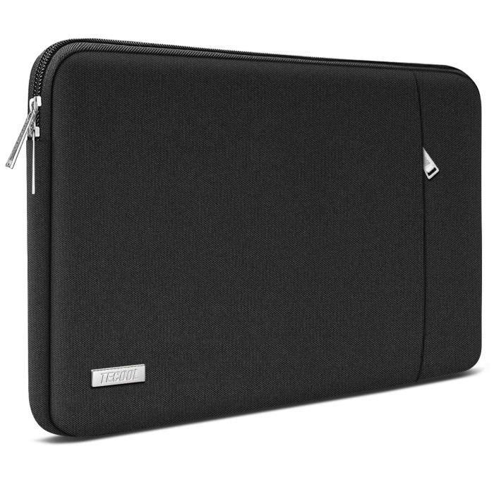 TECOOL 12.5 - 13 Pouces Housse PC Ordinateur Portable en Cuir PU Pochette Protecteur pour Macbook Air/Pro 13, XPS HP Envy - Marron