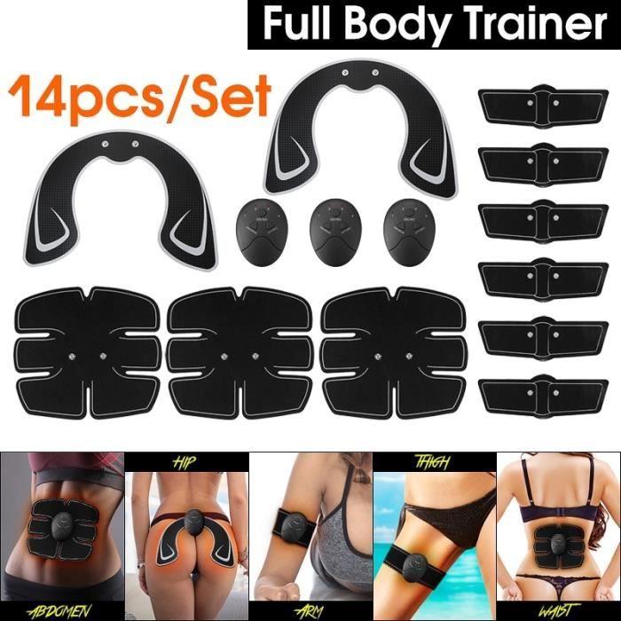 14 Pcs Appareil de Musculation Fitness Muscle équipement d'entraînement Hanche Fesses De Levage