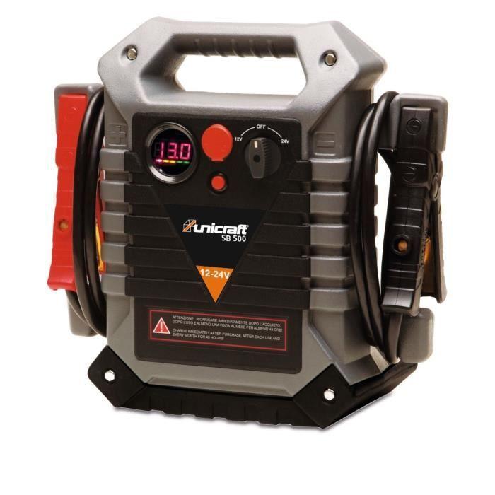Starter booster de batterie professionnel 12 / 24 V Unicraft SB500