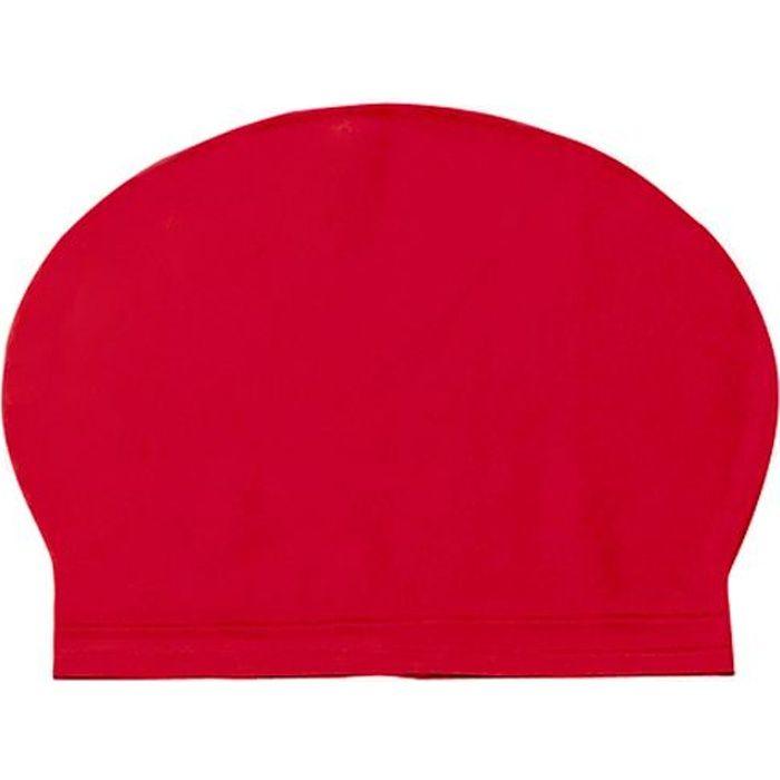 Bonnet de bain natation piscine de couleur rouge