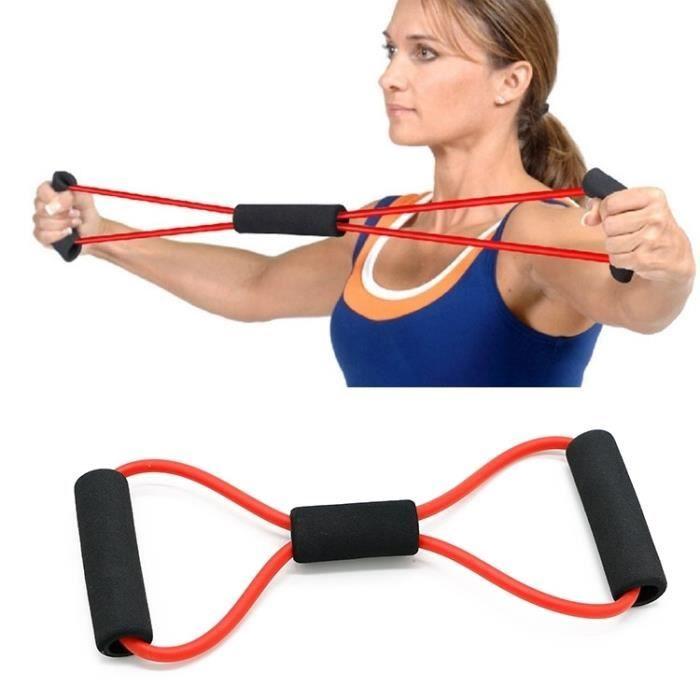 Corde de tension pour extenseur de poitrine / de traction Yoga Prati Fitness, livraison de couleur aléatoire - 205146 Noir