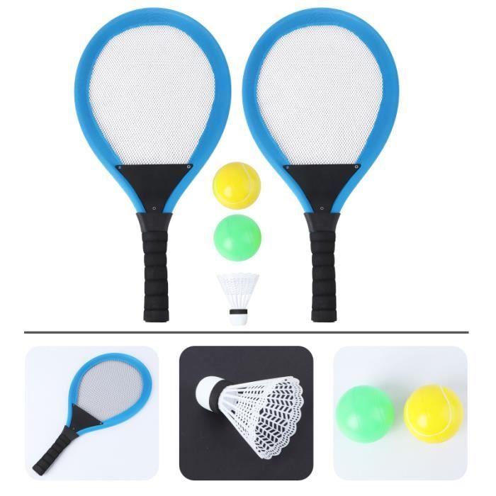 2 pièces raquette de tennis pour enfants sûrs durables accessoires de jeu KIT BADMINTON - PACK BADMINTON - ENSEMBLE BADMINTON
