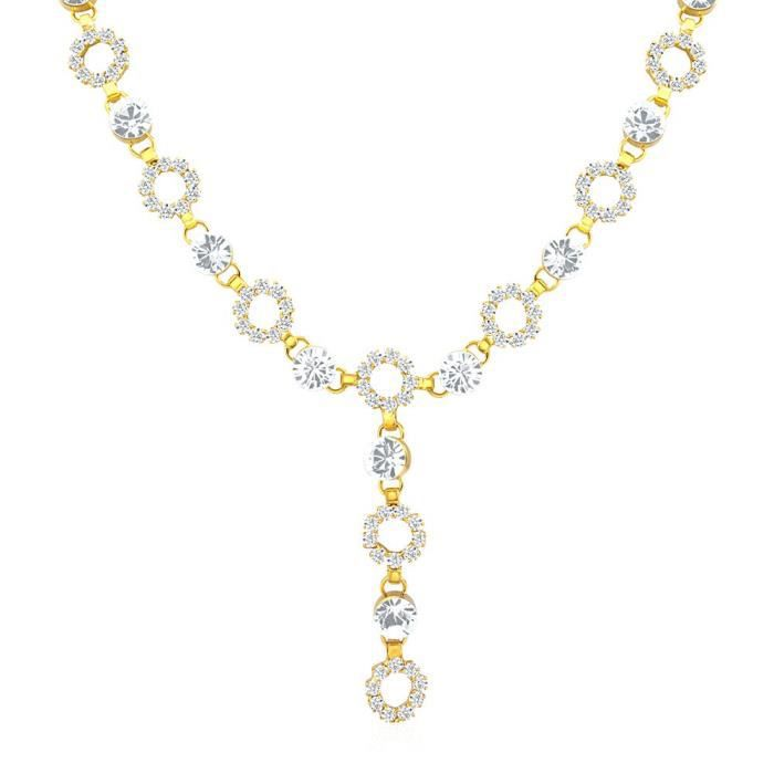 Womens Oviya Gold Plated Fashion Forever Necklace With Crystal For Ps2191047g MTKCV