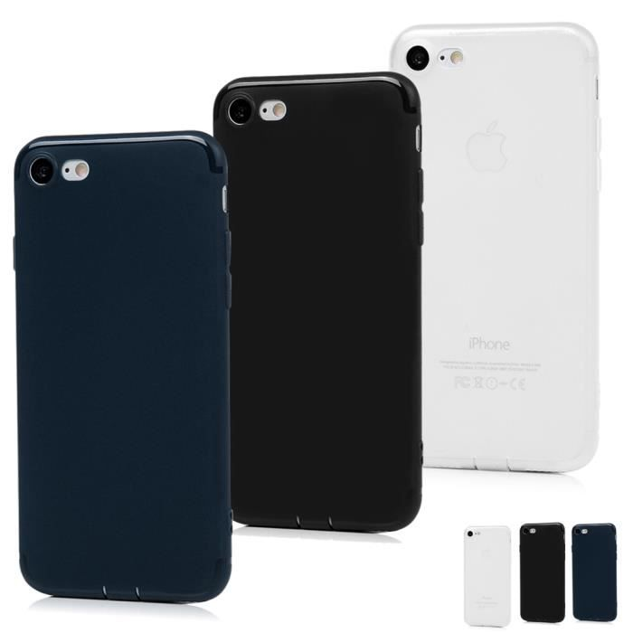 coque silicone bleu iphone 7