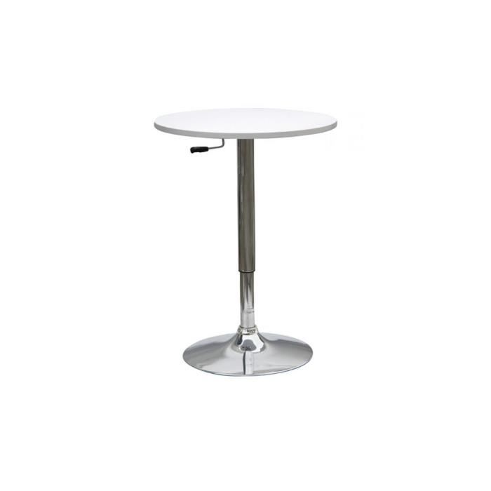 Week table bar r haussable blanche achat vente table for Table bar blanche