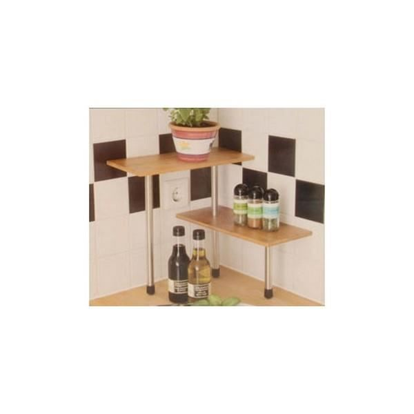 mini tag re d 39 angle en bois de bambou pour ust achat vente meuble tag re mini tag re d. Black Bedroom Furniture Sets. Home Design Ideas