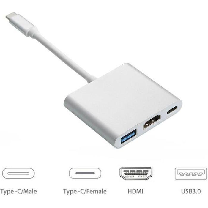 AUTRE PERIPHERIQUE USB  USB 3.0 Type C Adaptateur USB-C vers HDMI pour App