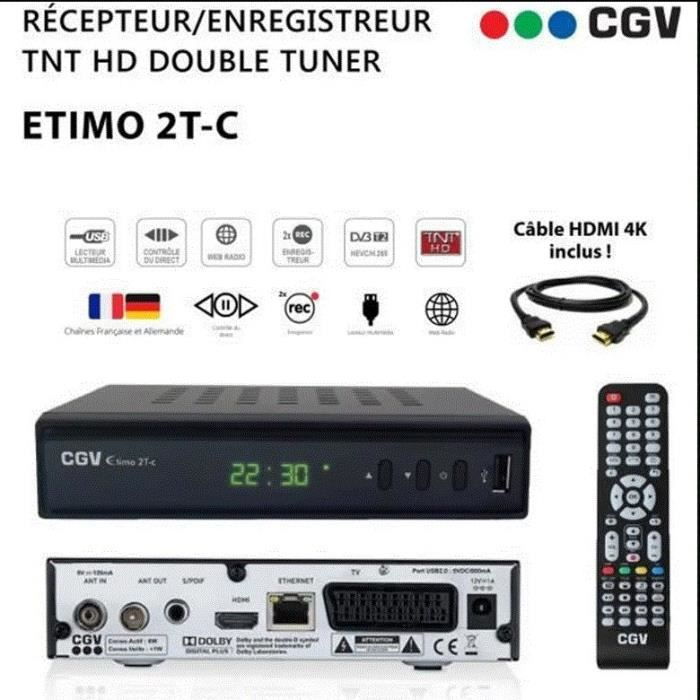 decodeur tnt hd dvb t2 achat vente decodeur tnt hd dvb t2 pas cher soldes d s le 10. Black Bedroom Furniture Sets. Home Design Ideas
