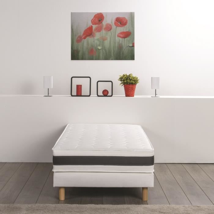finlandek ensemble matelas sommier 90x190 koota 1 personne mousse et m moire ferme 24. Black Bedroom Furniture Sets. Home Design Ideas
