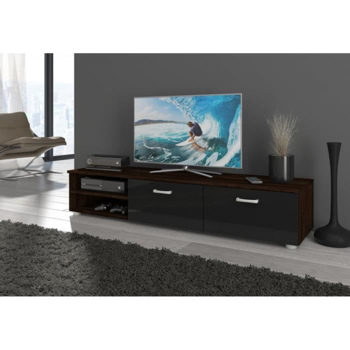 Magic new meuble tv hxlxp 29 144 38 cm couleur ch ne for Nabou meuble tv mural 319x207 cm chene cendre
