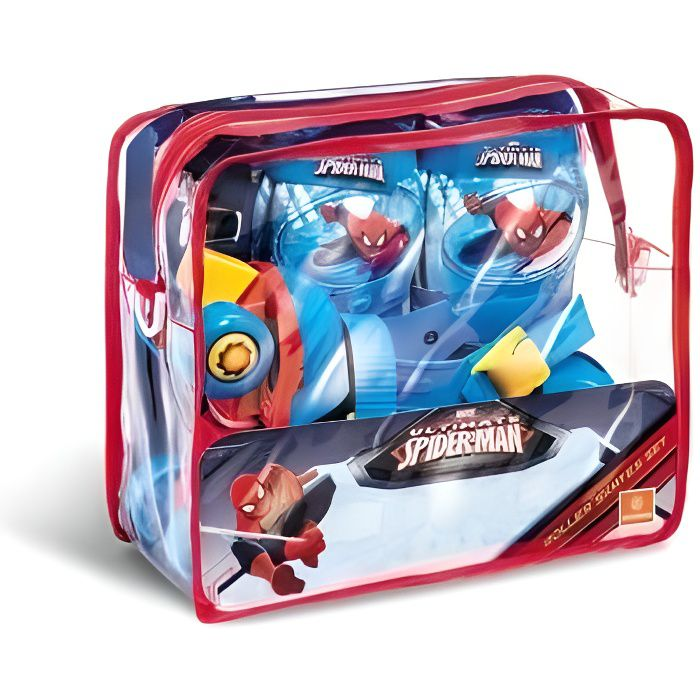ROLLER IN LINE SPIDERMAN Rollers Réglables et protections (taille