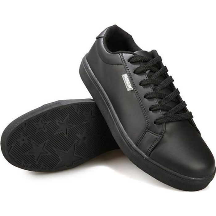 chaussures homme sport l ger baskets noir noir noir. Black Bedroom Furniture Sets. Home Design Ideas