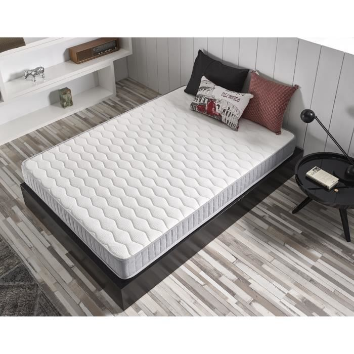 matelas detente 90x200 cm mousse m moire de forme blue latex 7 zones double face achat. Black Bedroom Furniture Sets. Home Design Ideas