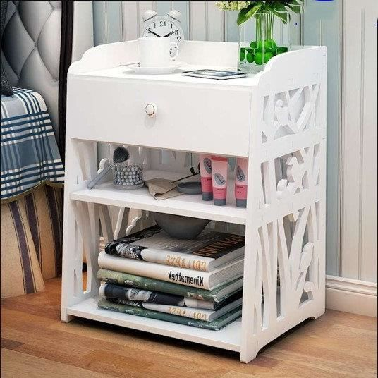 Chevet Table de Nuit Contemporaine Blanc - L 50CM - Achat / Vente ...