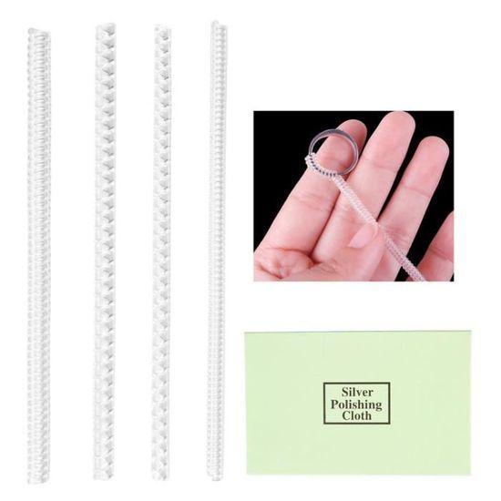 33 Pièces Ajusteurs de Taille de Bague Réducteur Invisible Régleurs Bijoux NEUF