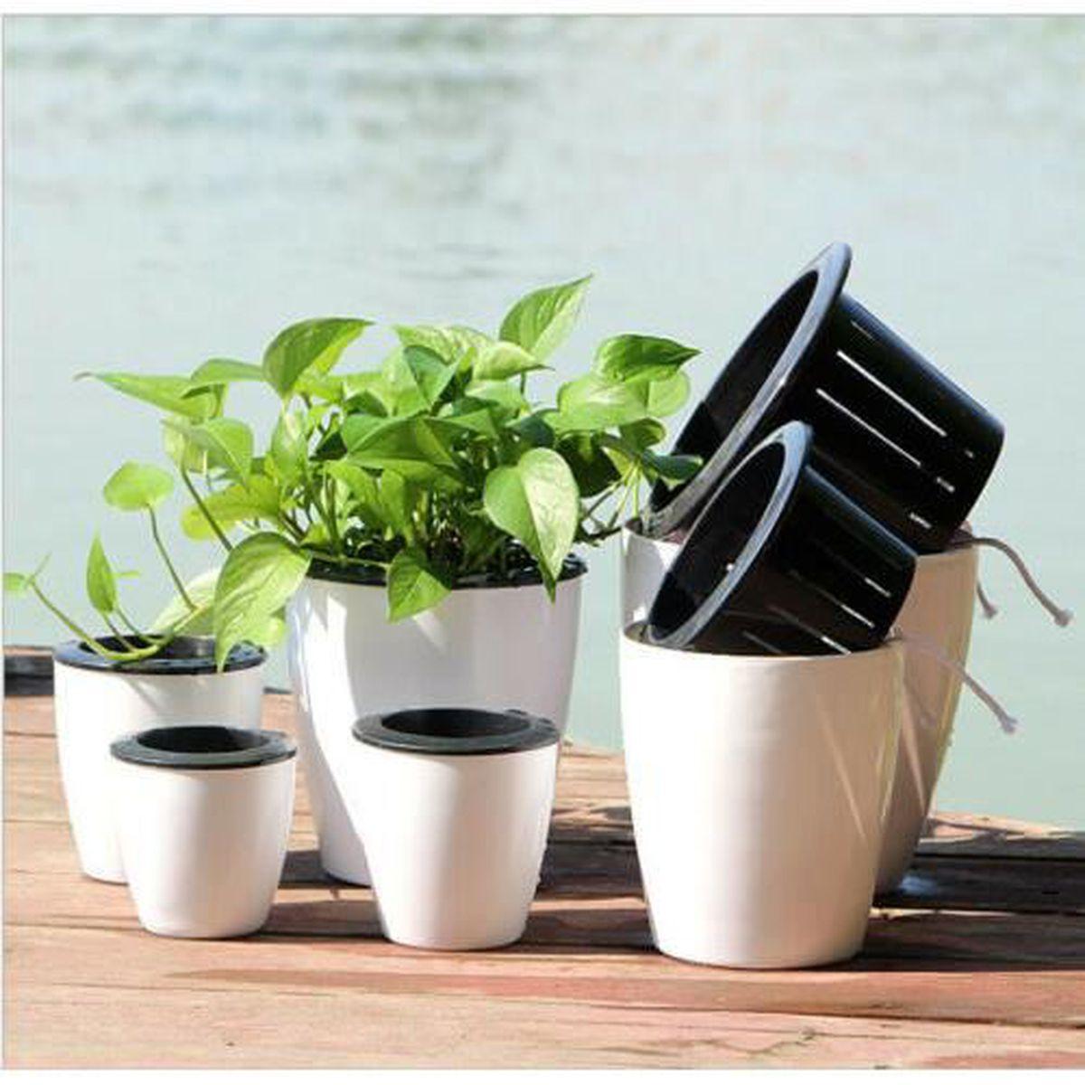 Arrosage Pour Plantes En Pot pot de fleurs auto-arrosage en plastique pour intérieur ou
