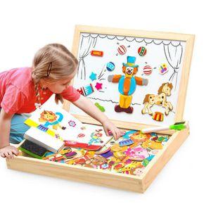PUZZLE Puzzles en Bois Magnétique 100 Pièces, Tableau Dou