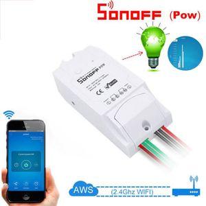 INTERRUPTEUR ÉLECTRO. Sonoff POW Smart Switch Accueil WiFi Wireless Moni