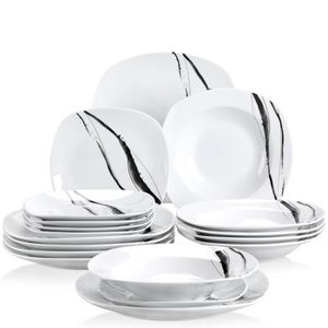 ASSIETTE Veweet TERESA 18pcs Assiettes Service de Table Poc