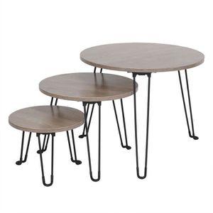 TABLE BASSE Table basse combinaison pliable trois ensembles