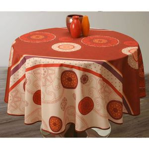 Nappe ronde orange achat vente nappe ronde orange pas - Table ronde 180 cm combien de personnes ...