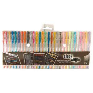 Stylo - Parure Stylo gel pen couleur assortie - pochette de 30