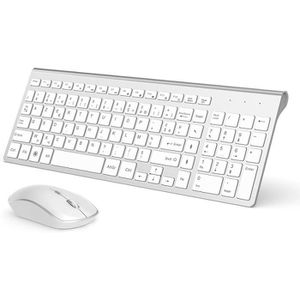 longue dur/ée de vie de la batterie pour ordinateur de bureau Ordinateur portable Mac Clavier /étanche /à 84 touches et souris ajustable 800//1200//1600 DPI Clavier et souris sans fil ZERODATE 2.4G Noi