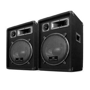 CAISSON DE BASSE 2 Enceintes Passives DJ PA sono 800W subwoofer 10