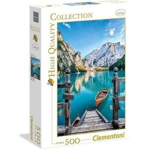 PUZZLE PUZZLE 500 pièces - Le lac de Braies  - 49 X 36 cm