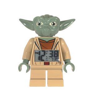 RÉVEIL ENFANT Cyllene Fantaisie - Réveil Yoda 'Lego' - Vert e...