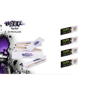 Feuilles /à rouler #DEF King Size Slim grande taille lot de 10 carnets de 33 Feuilles longues qualit/é OCB ou JASS