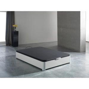 SOMMIER Sommier coffre tapissier INDO blanc 160x200cm - L