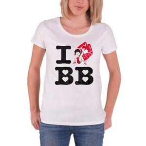 T-SHIRT Betty Boop T Shirt I Love Betty Boop nouveau offic